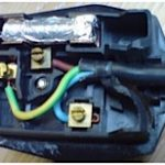 An incorrectly repaired plug
